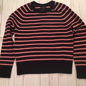 J. Crew black and pink striped Swaeter size S